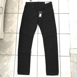 Rag & Bone Men's Worn Gray Slim Fit Jeans